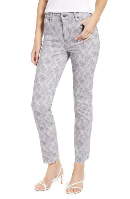Image of PAIGE Hoxton Snake Print High Waist Ankle Slim Jeans