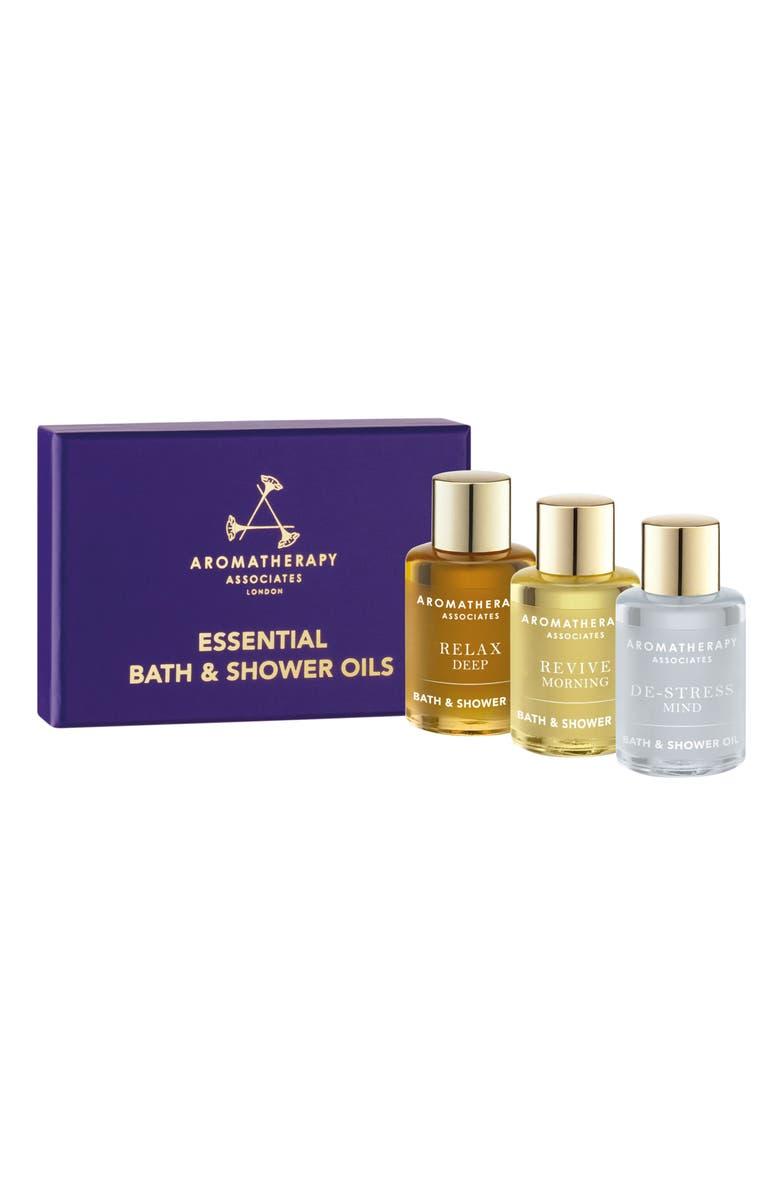 AROMATHERAPY ASSOCIATES Essential Bath & Shower Oil Trio, Main, color, NO COLOR