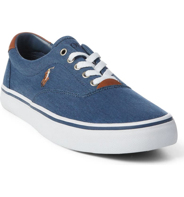 POLO RALPH LAUREN Thorton Low Top Sneaker, Main, color, NEWPORT NAVY FABRIC