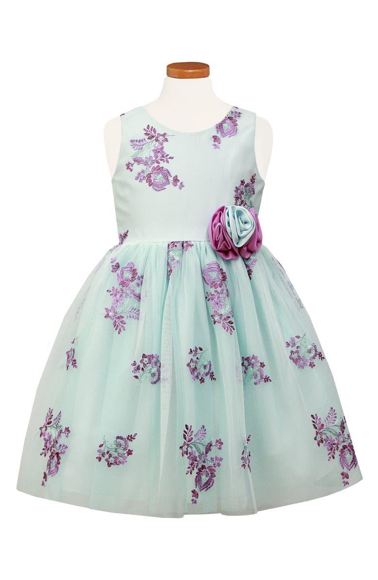 9a698c1c1 Sorbet Embroidered Floral Tulle Dress (Toddler Girls & Little Girls ...