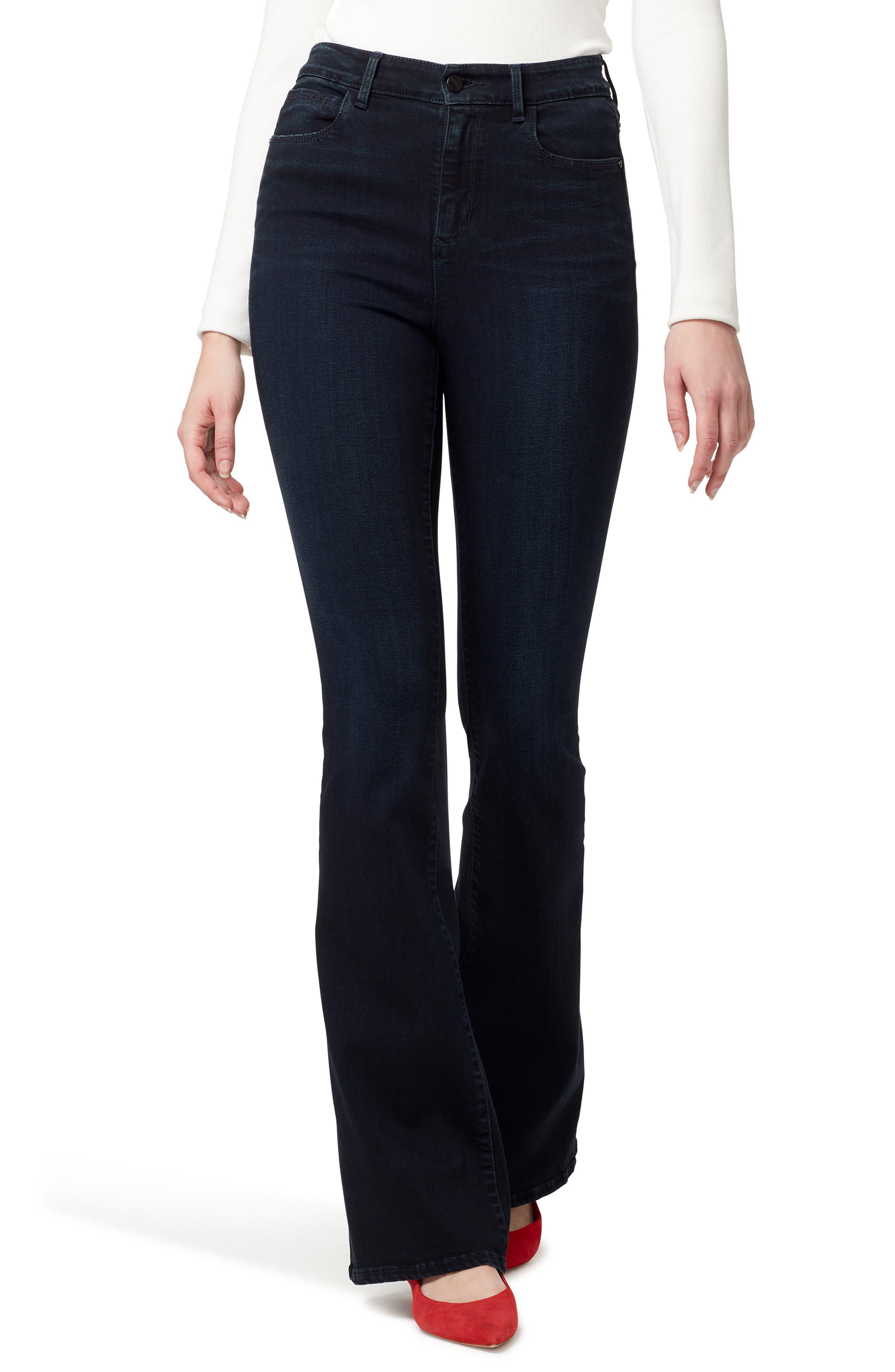 60s – 70s Pants, Jeans, Hippie, Bell Bottoms, Jumpsuits Womens Sanctuary High Waist Flare Jeans $99.00 AT vintagedancer.com
