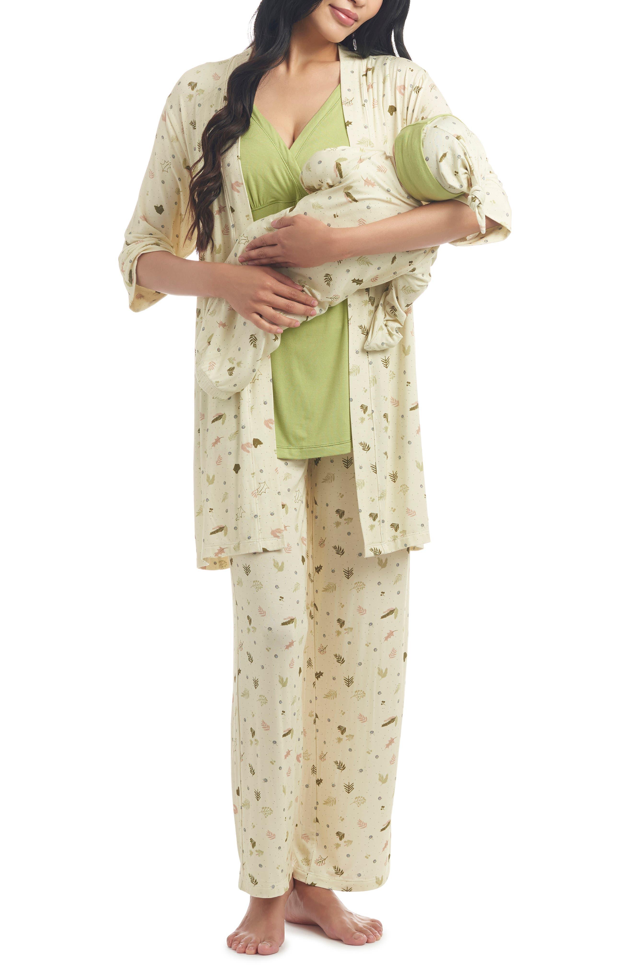 Analise During & After 5-Piece Maternity/nursing Sleep Set