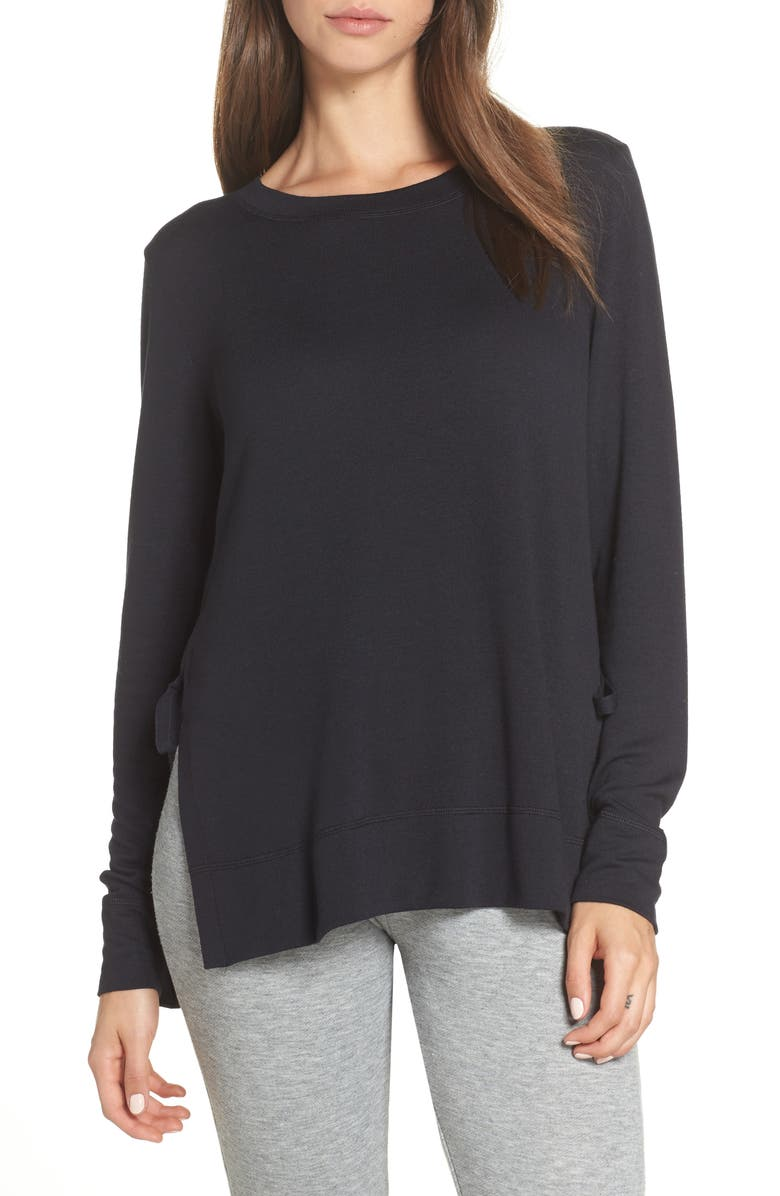 UGG<SUP>®</SUP> Quincy Sweatshirt, Main, color, BLACK