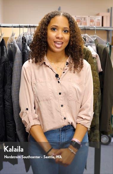 Vickie Frayed Denim Shorts, sales video thumbnail