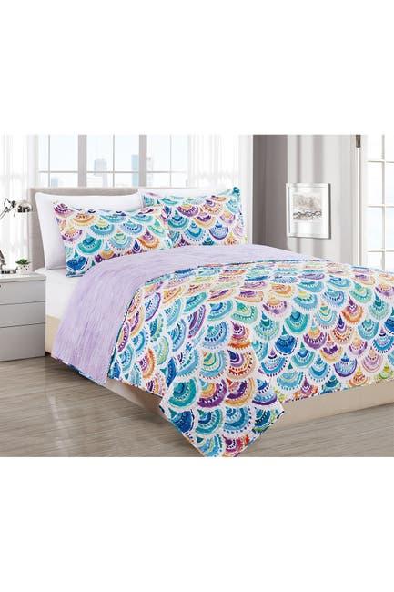 Image of Melange Home Rainbow Mermacita Quilt Set - Full/Queen