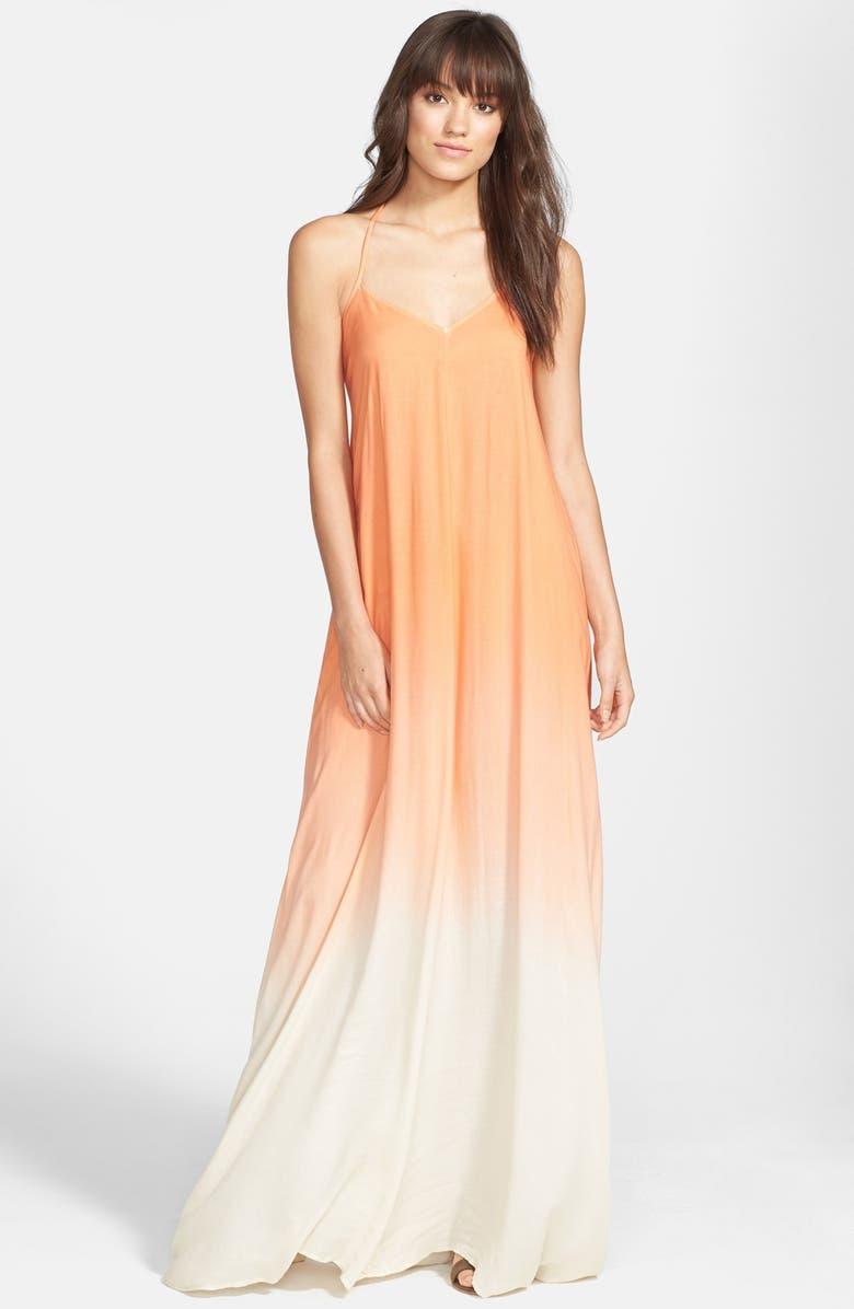 YOUNG, FABULOUS & BROKE 'Fortune' Ombré Maxi Dress, Main, color, 800