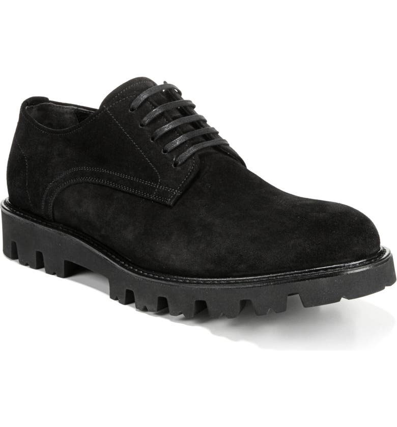 VINCE Cadet Plain Toe Derby, Main, color, BLACK/ BLACK