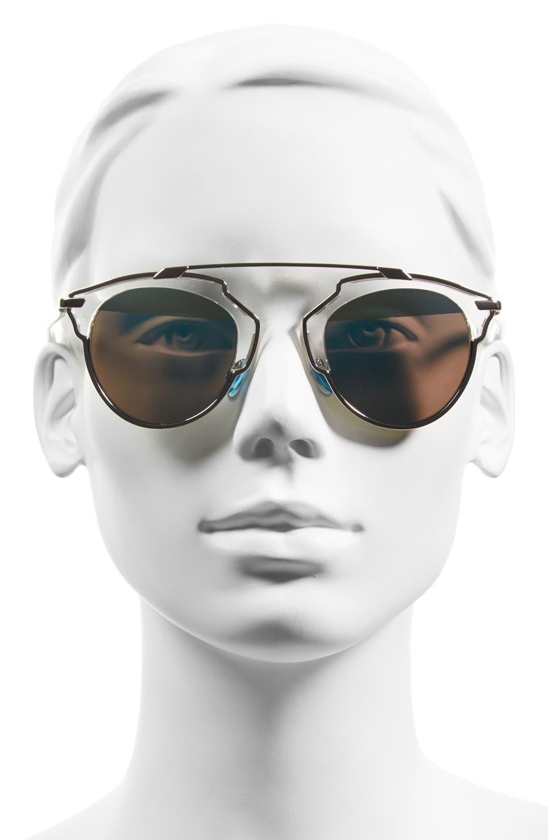 ,                             So Real 48mm Brow Bar Sunglasses,                             Alternate thumbnail 37, color,                             044