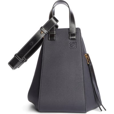 Loewe Hammock Medium Calfskin Leather Hobo - Blue