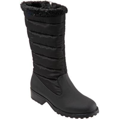 Trotters Benji Water Resistant Boot WW - Black