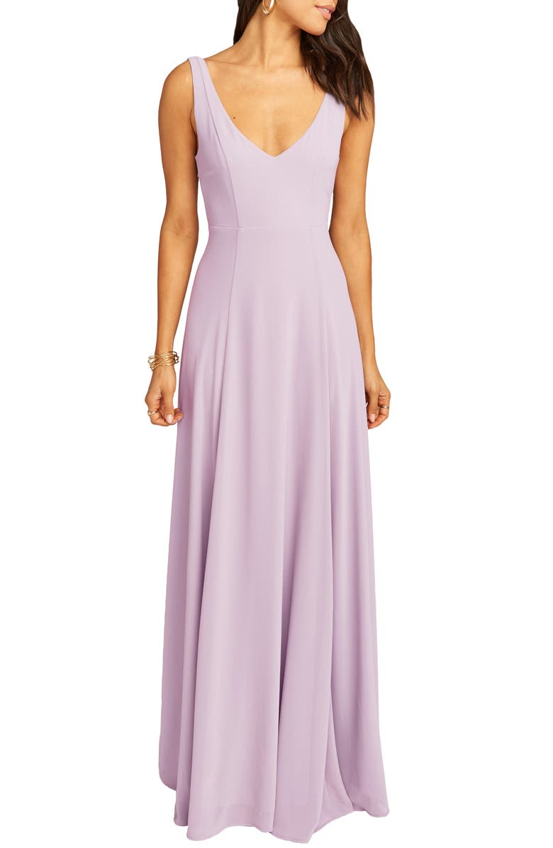 SHOW ME YOUR MUMU Jen Maxi Gown, Main, color, VIOLET CHIFFON