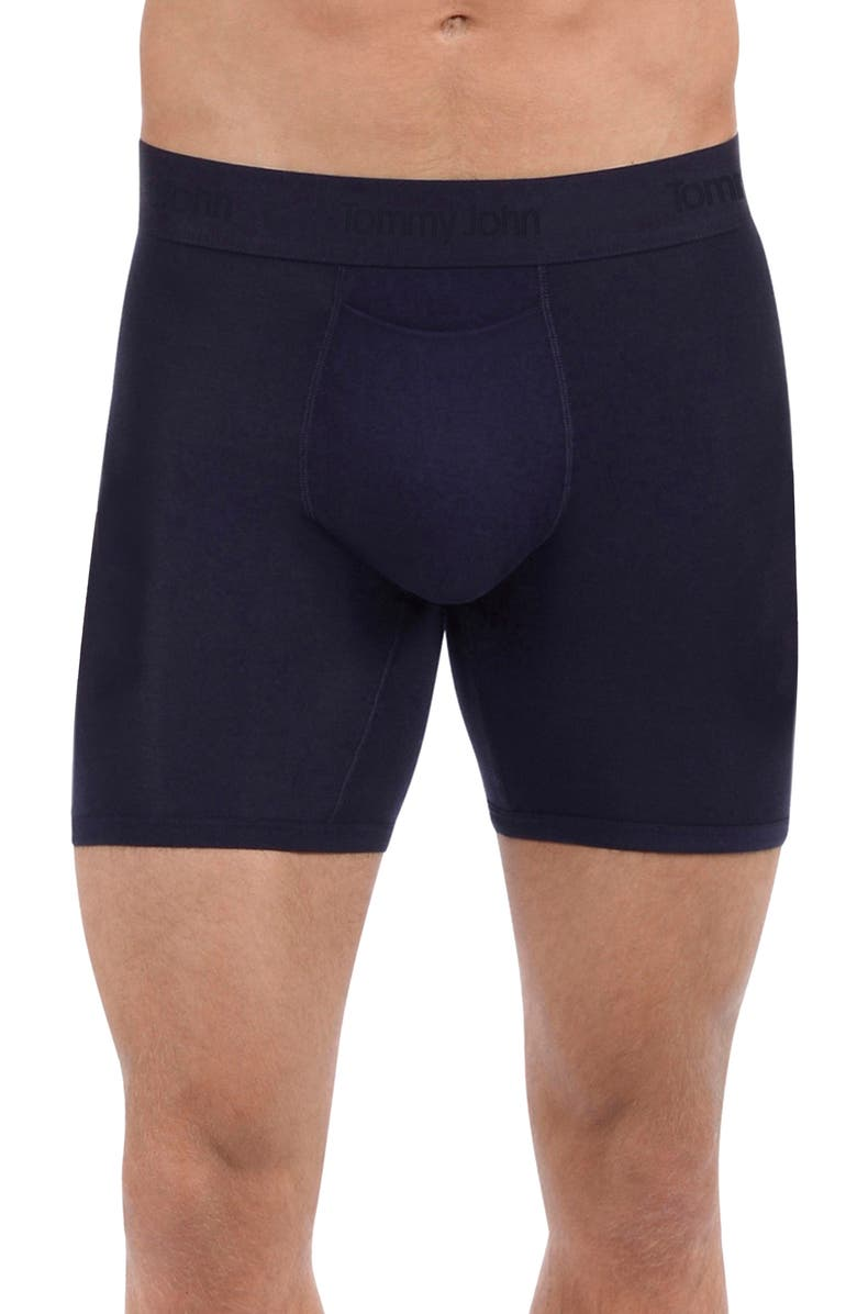 TOMMY JOHN 'Second Skin' Boxer Briefs, Main, color, DRESS BLUES
