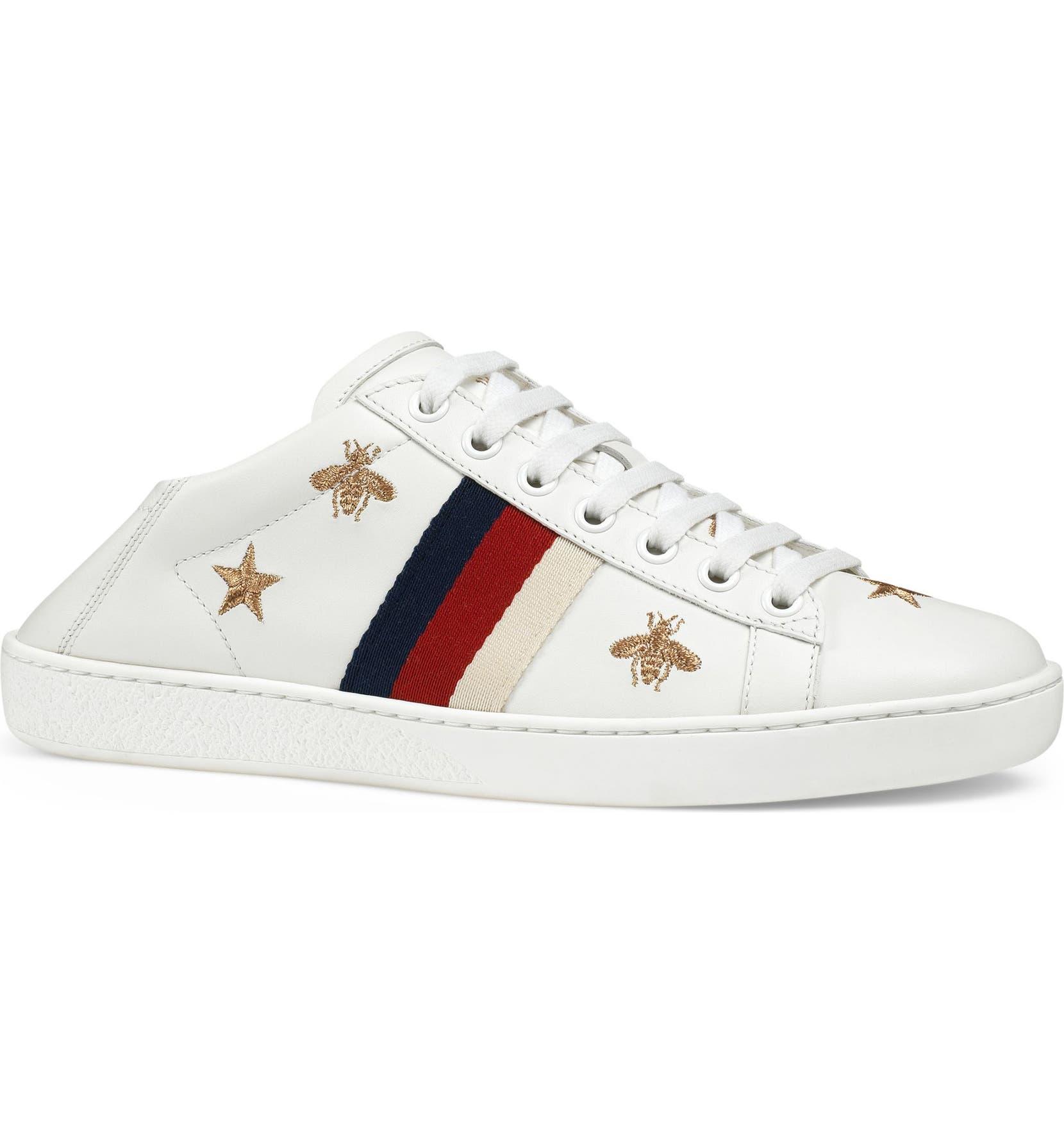 3c9fbf5f9 Gucci New Ace Convertible Heel Sneaker (Women)   Nordstrom
