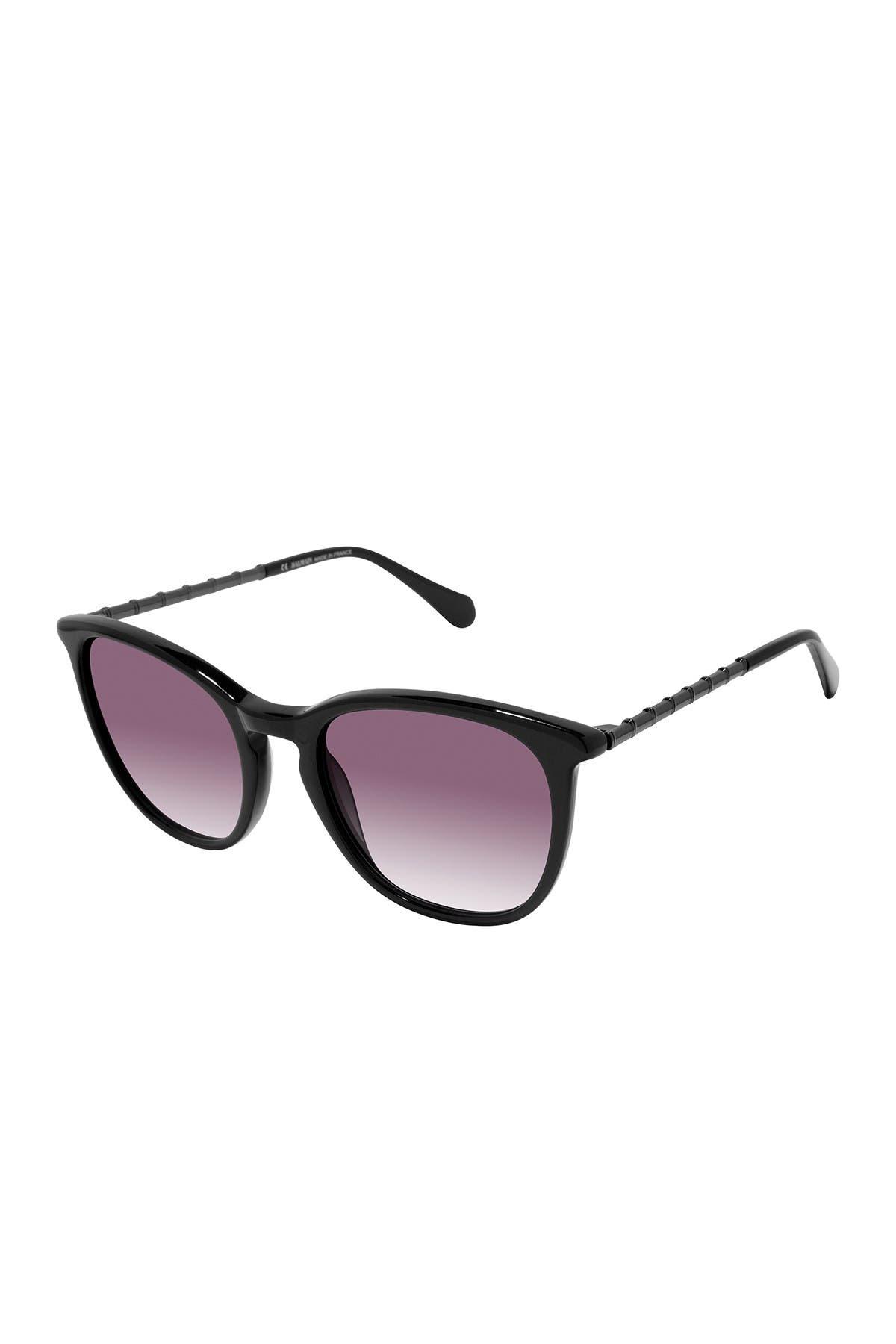 Image of Balmain 51mm Round Sunglasses