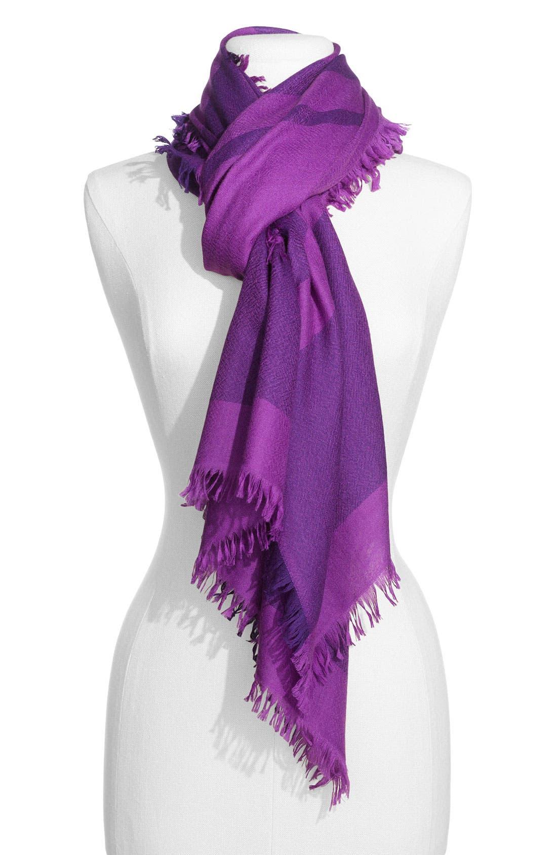,                             'Eyelash' Colorblock Cashmere Wrap,                             Main thumbnail 64, color,                             503