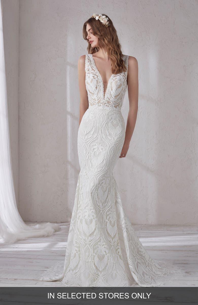 Pronovias Magnolia Lace Mermaid Gown