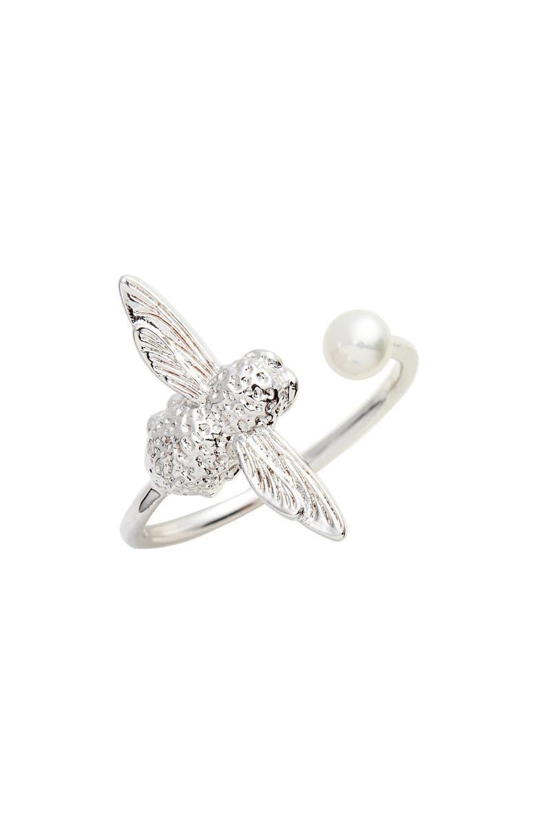 OLIVIA BURTON Pearl Bee Ring, Main, color, 040