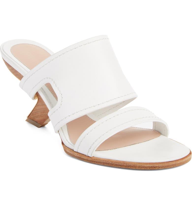 ALEXANDER MCQUEEN Slide Sandal, Main, color, WHITE/ GOLD