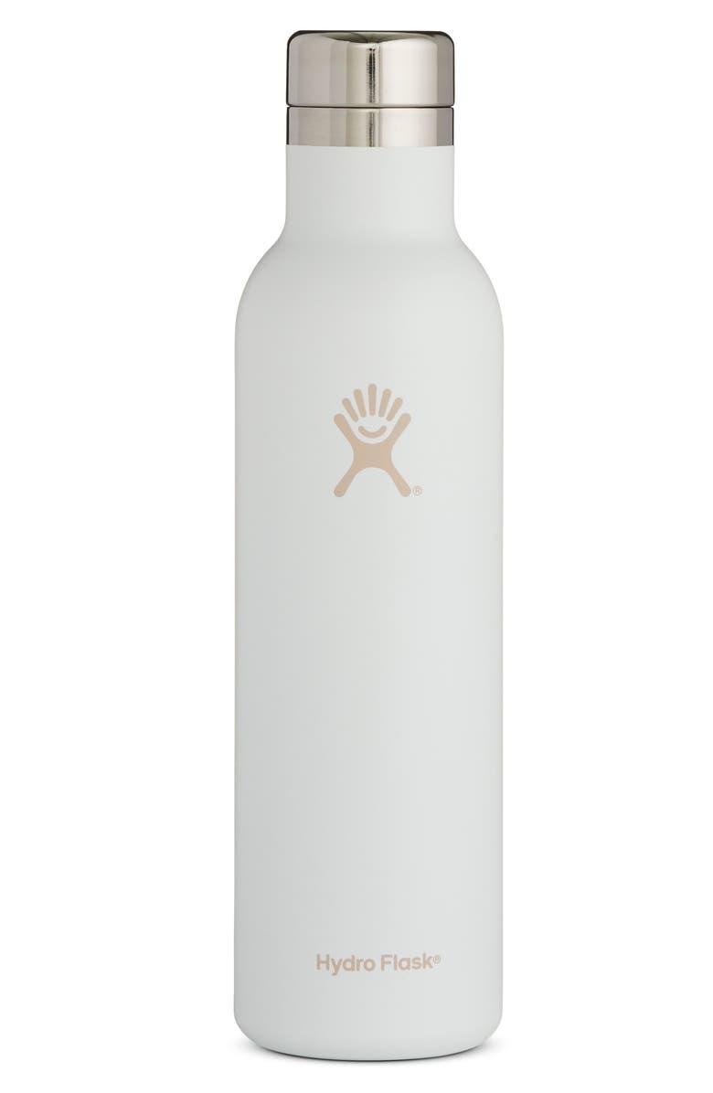 HYDRO FLASK Skyline 25-Ounce Wine Bottle, Main, color, WHITE