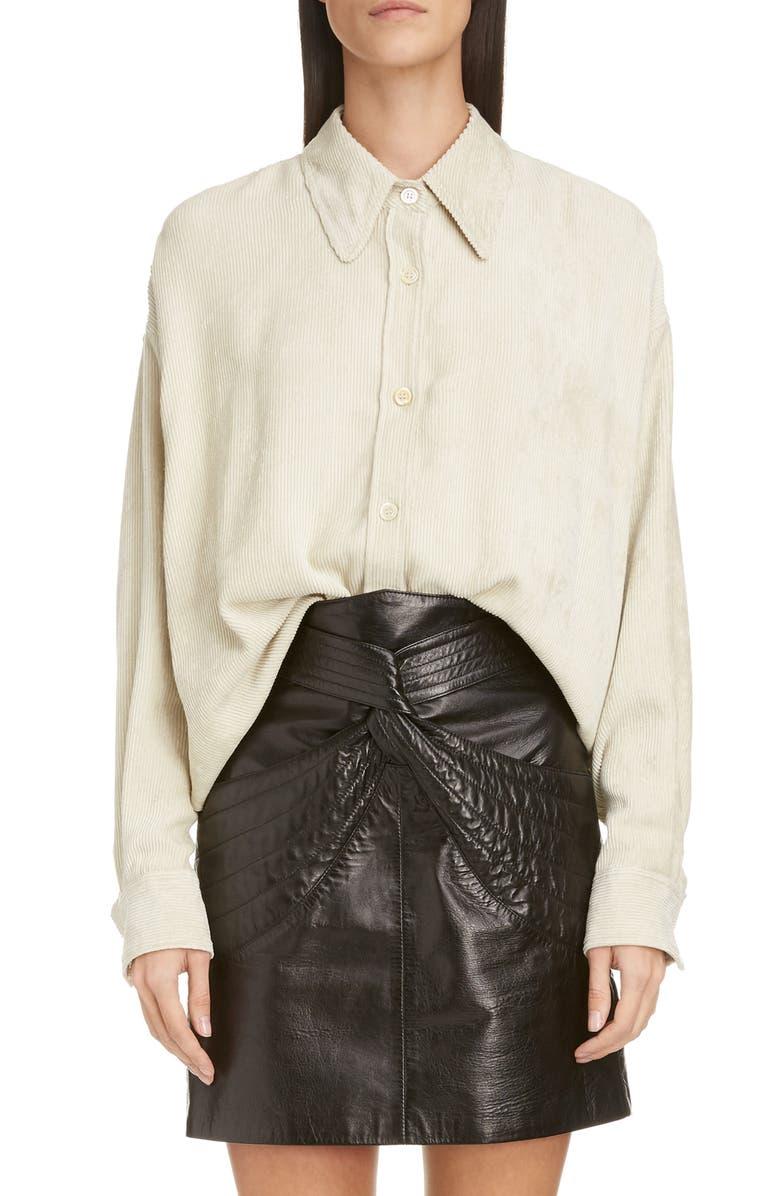 ISABEL MARANT Corduroy Shirt, Main, color, ECRU