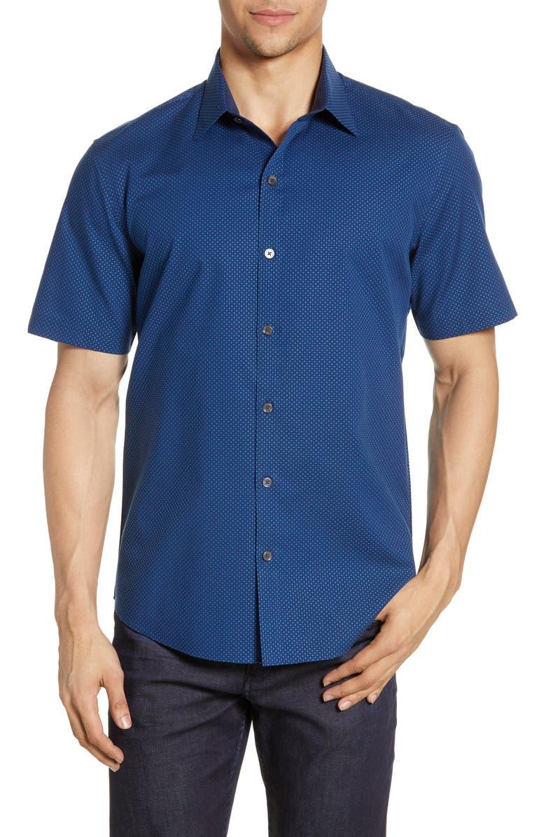 ZACHARY PRELL Sepulveda Regular Fit Shirt, Main, color, TEAL