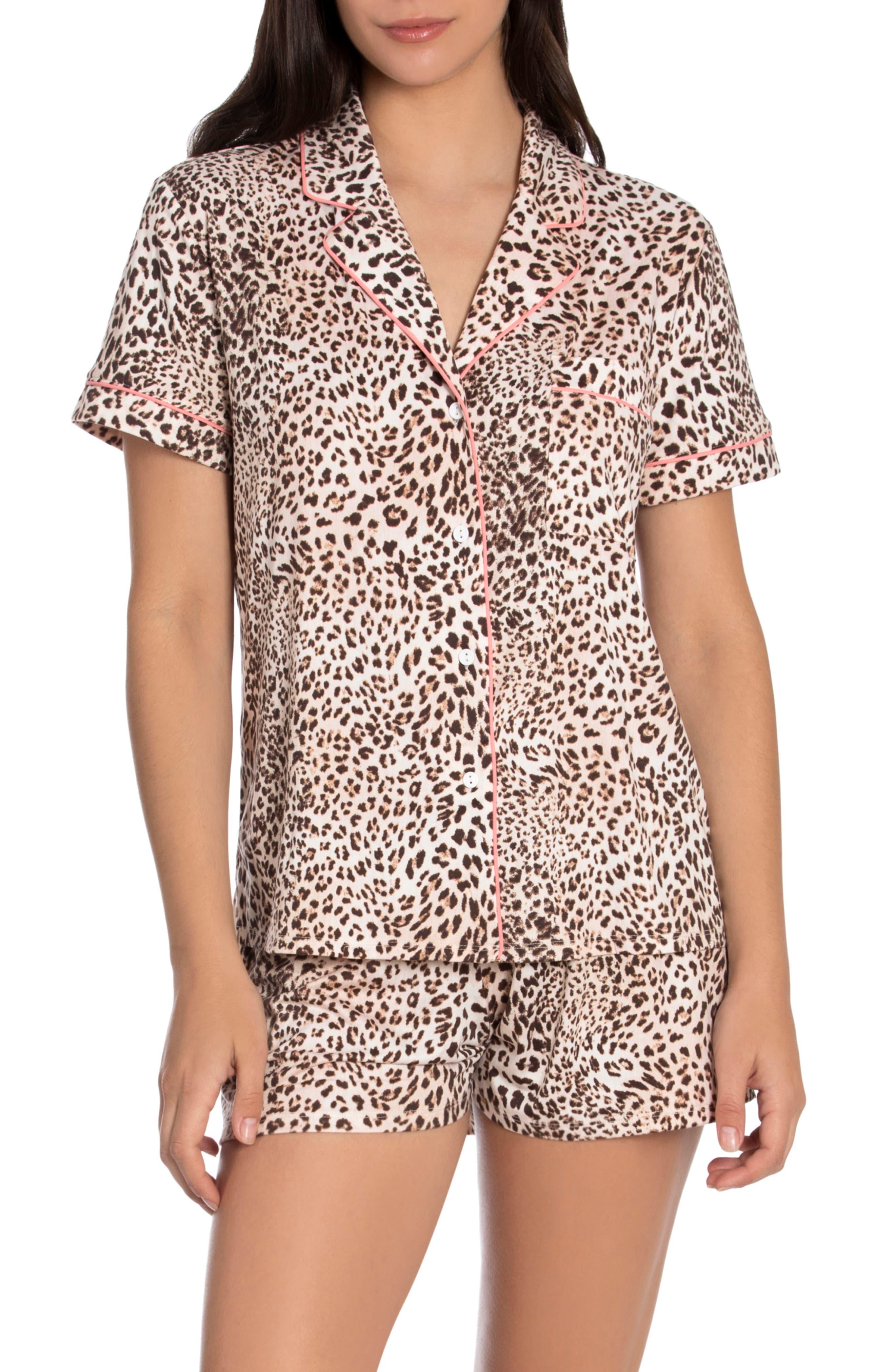 Tangalle Animal Print Short Pajamas