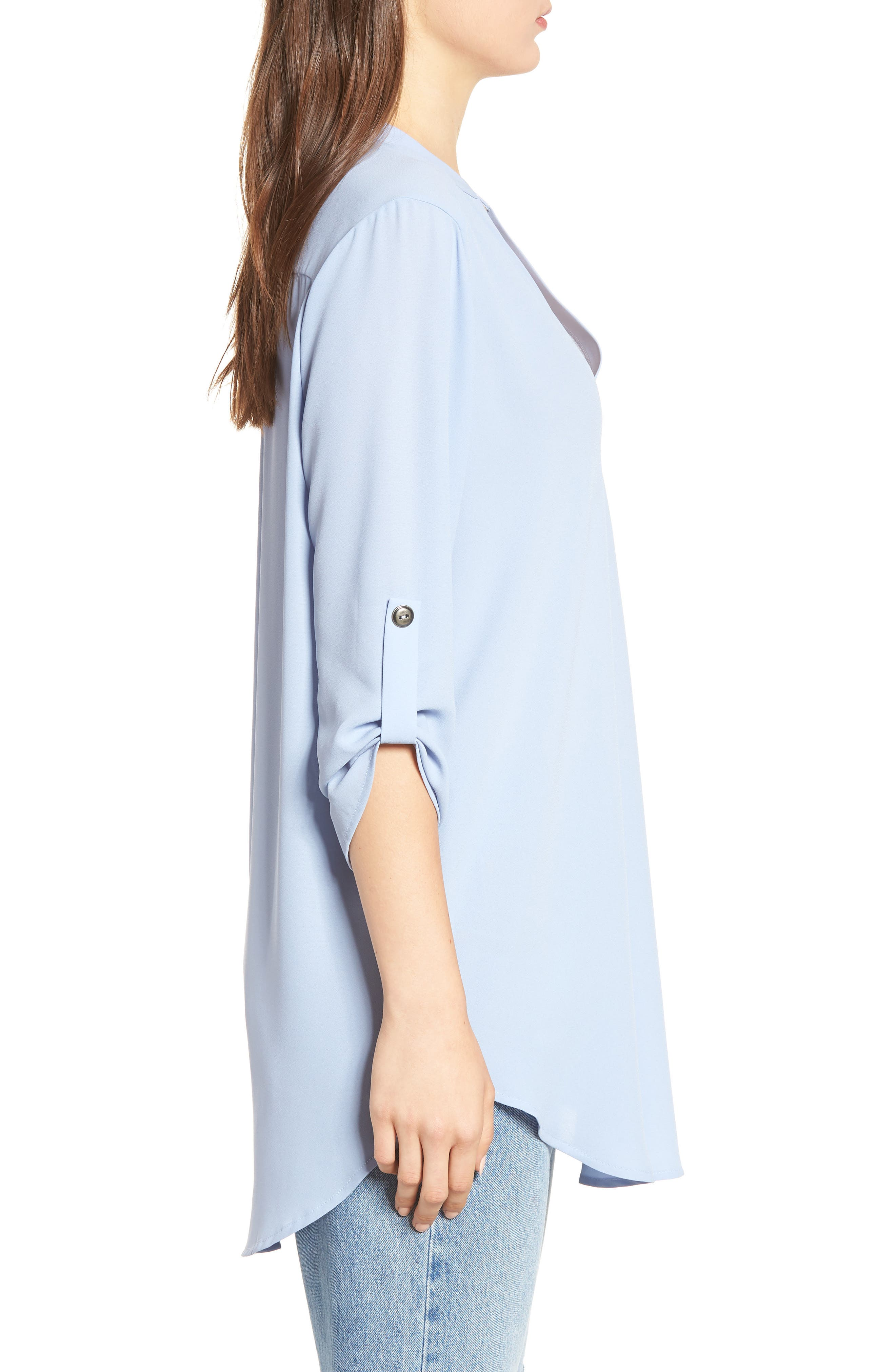,                             Perfect Roll Tab Sleeve Tunic,                             Alternate thumbnail 77, color,                             410