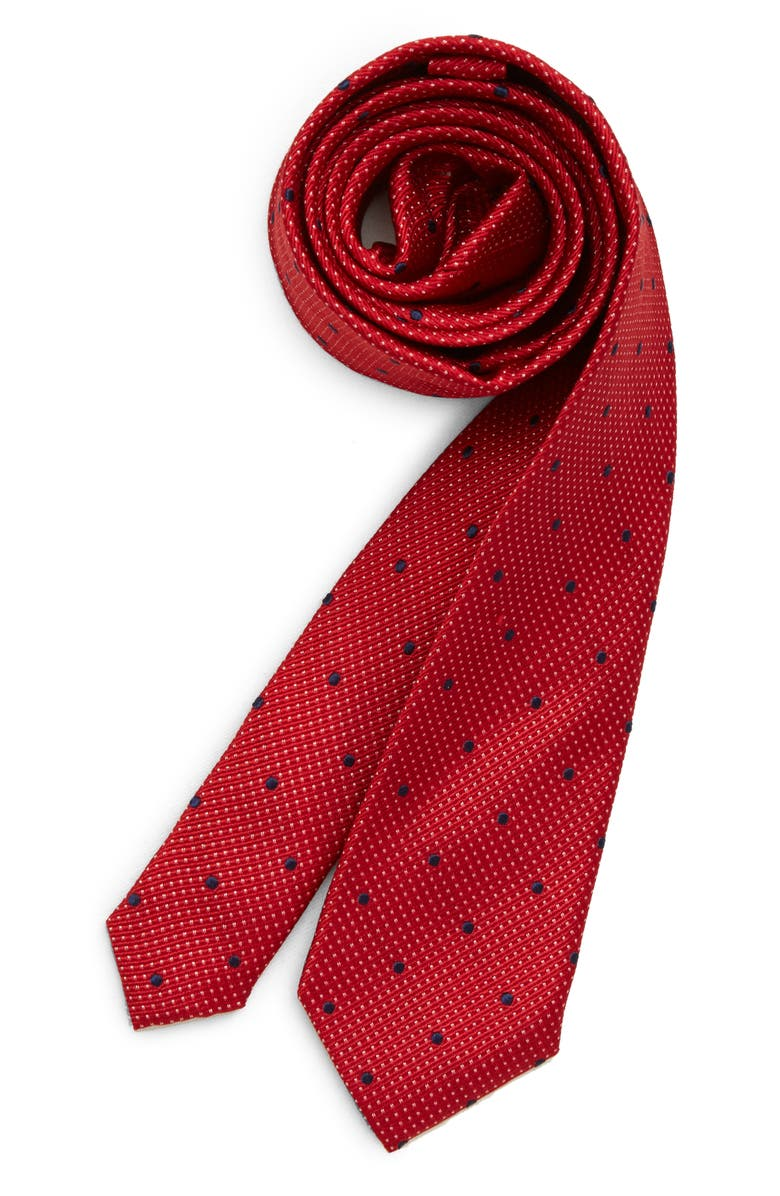 MICHAEL KORS Dot Silk Tie, Main, color, RED
