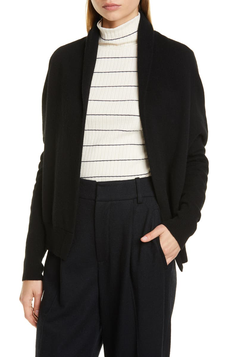 VINCE Shawl Collar Cashmere Cardigan, Main, color, BLACK