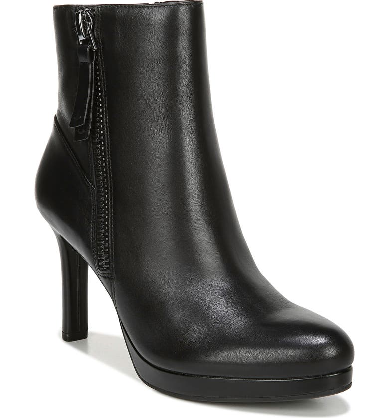 NATURALIZER Tiana Platform Boot, Main, color, BLACK LEATHER