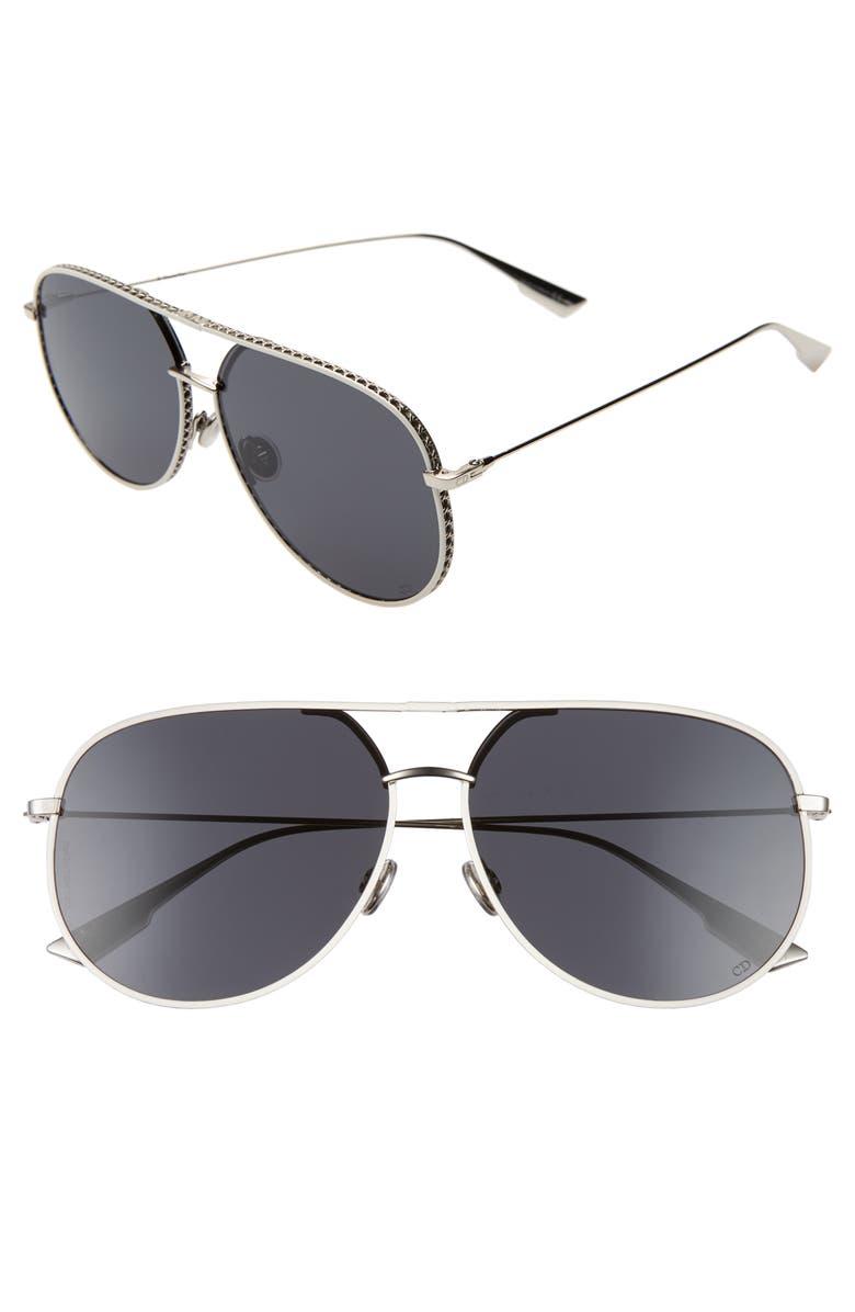 Dior 60mm Aviator Sunglasses