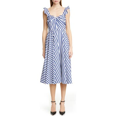 Jason Wu Collection Stripe Cotton Day Dress, Blue