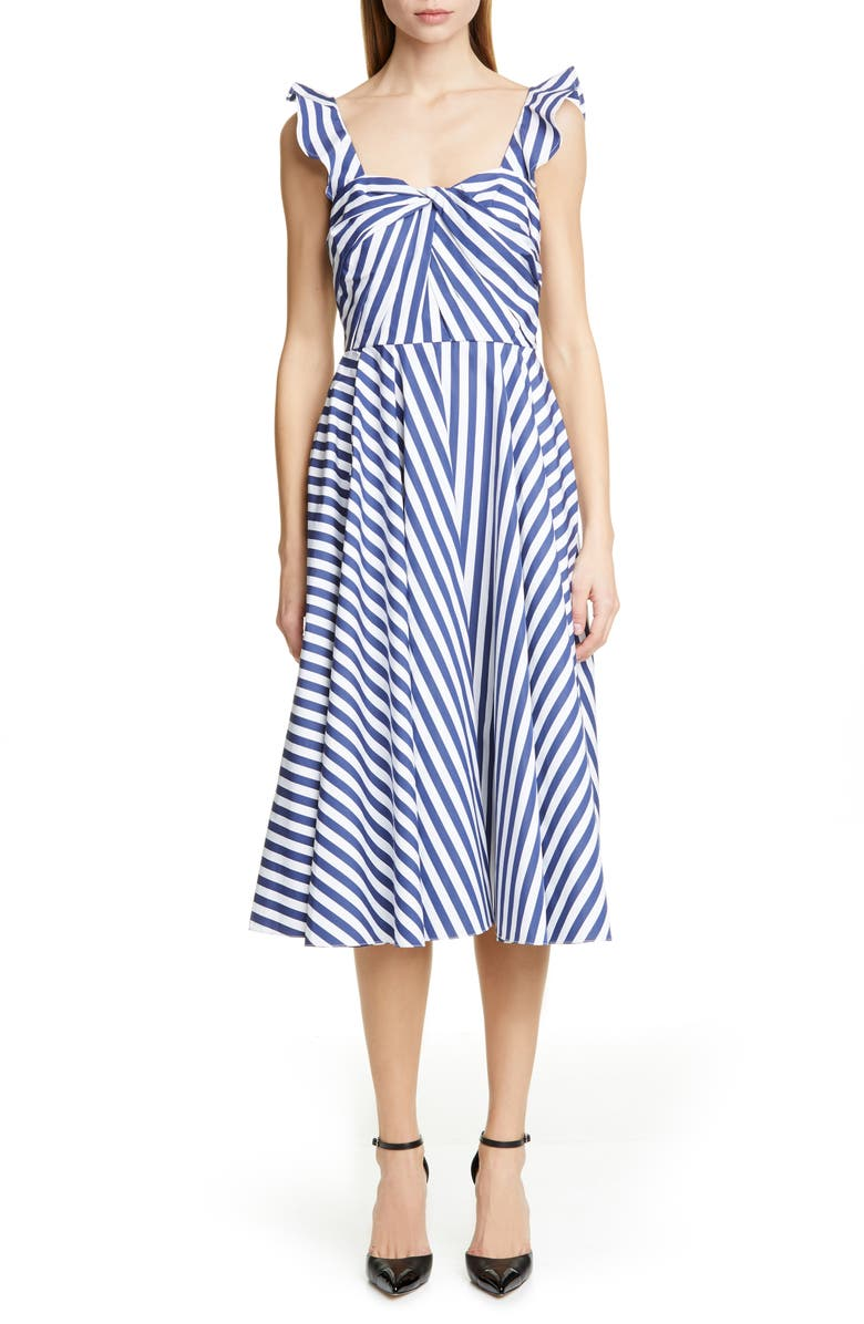 JASON WU COLLECTION Stripe Cotton Day Dress, Main, color, 400
