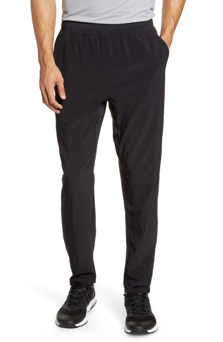 ZELLA Core Stretch Woven Pants, Main, color, BLACK