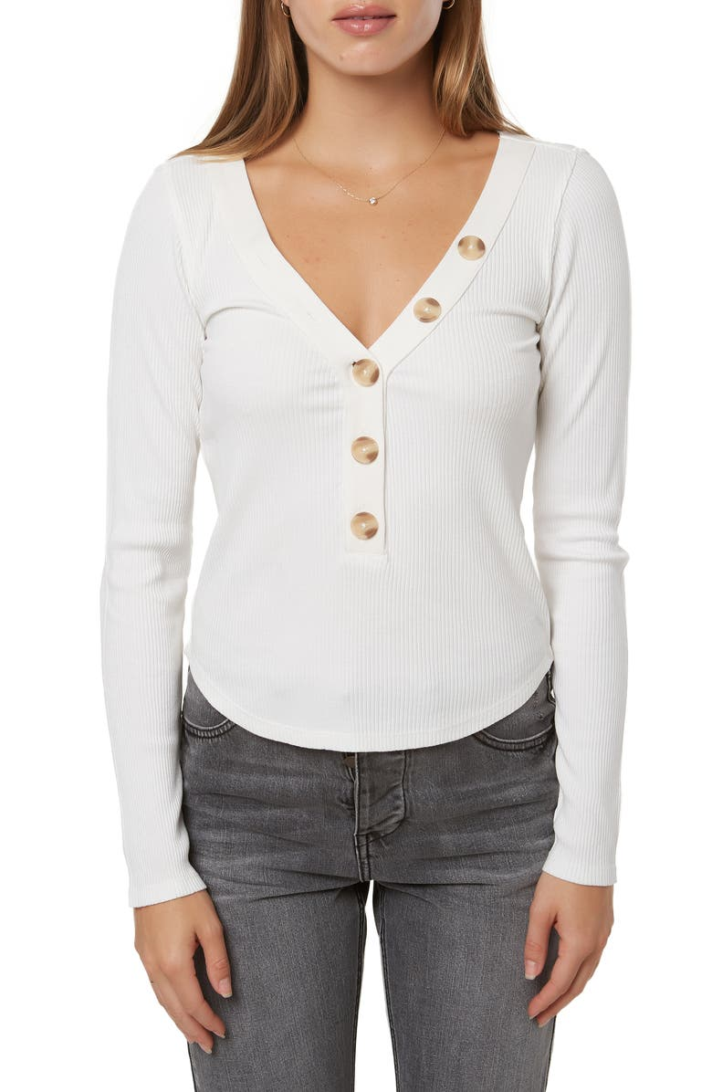 O'NEILL Riell Rib Henley Top, Main, color, NAKED