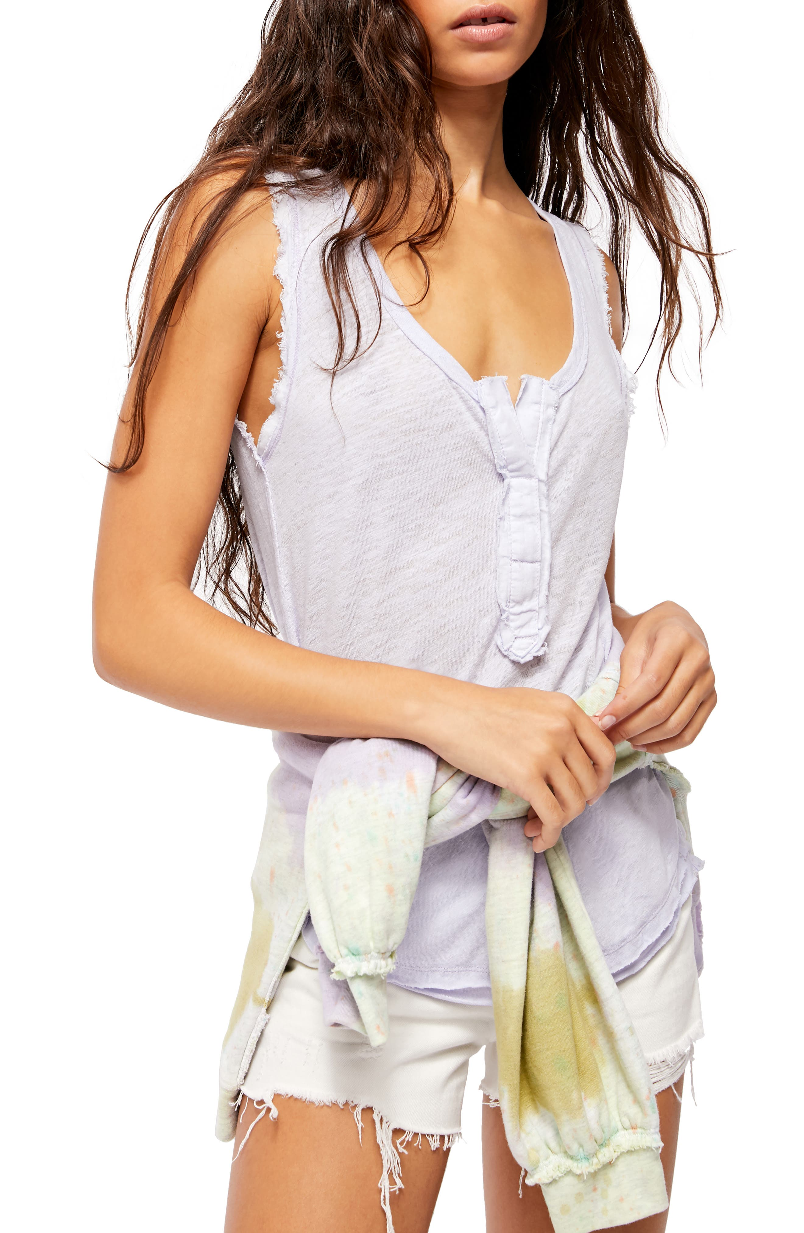 Image of Free People Vacay Linen Blend Tank Top