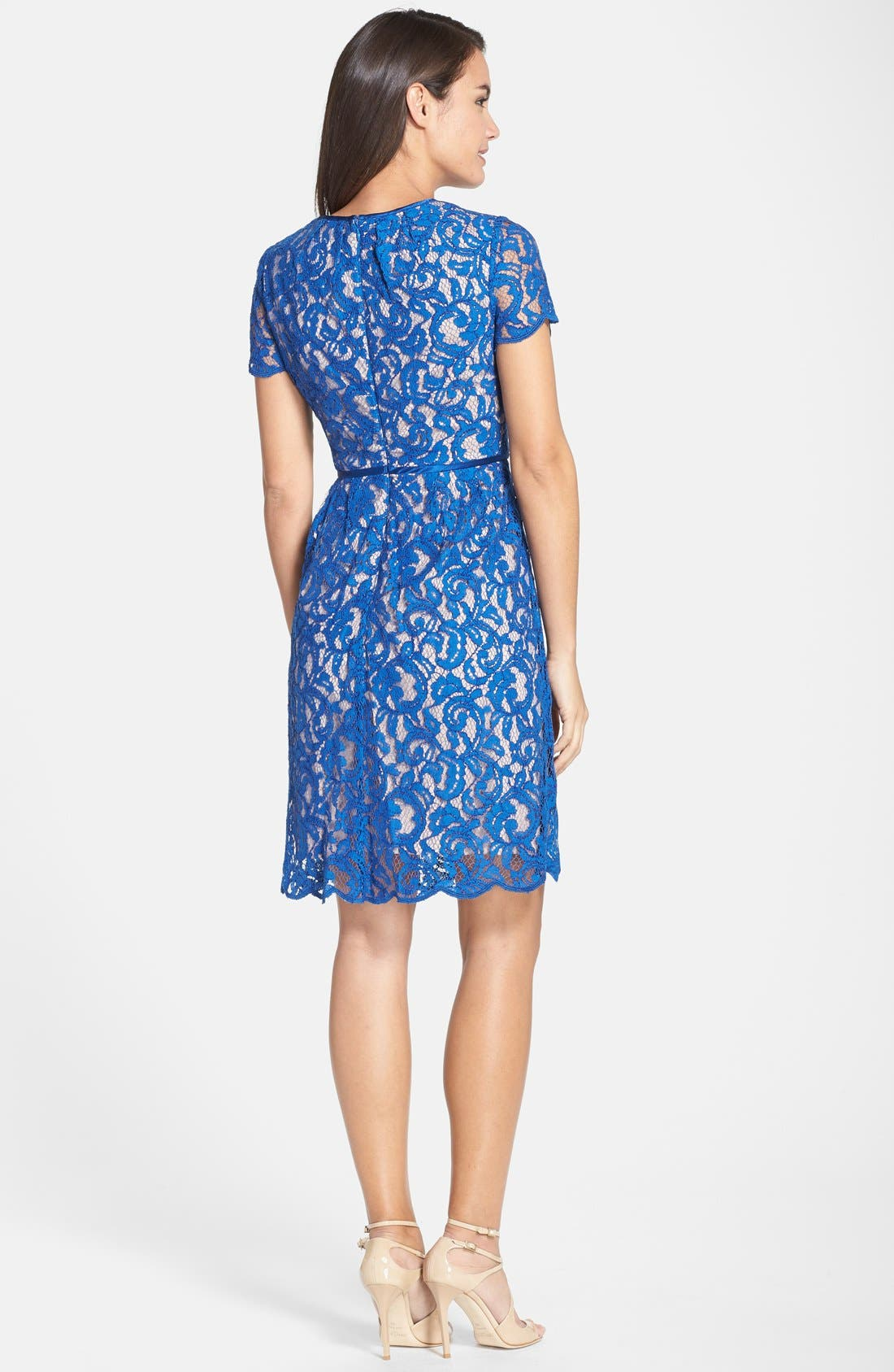,                             Scalloped Lace Dress,                             Alternate thumbnail 2, color,                             400