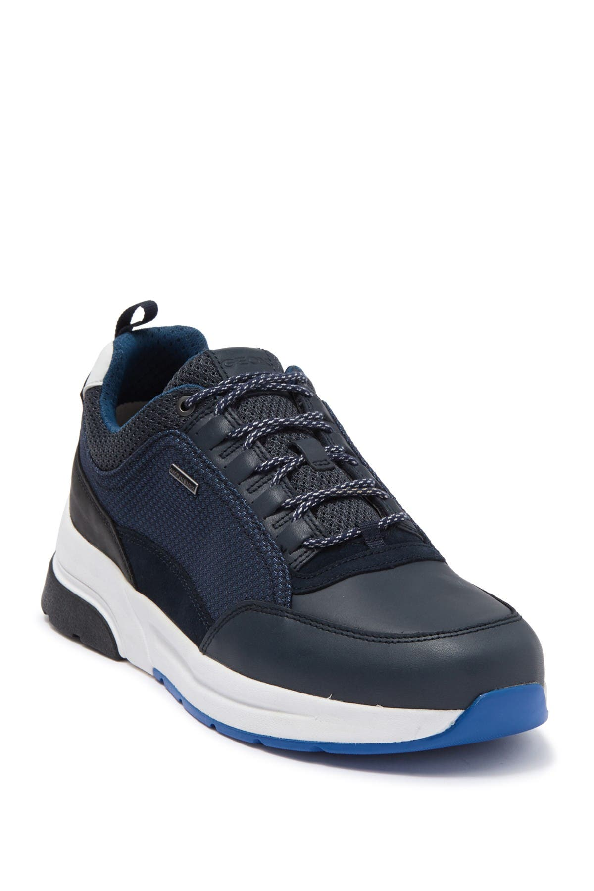 Image of GEOX Rockson Bab 3 Leather Sneaker