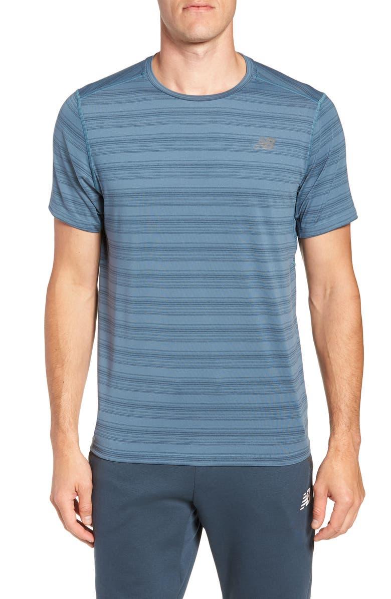 NEW BALANCE Anticipate Performance T-Shirt, Main, color, PETROL