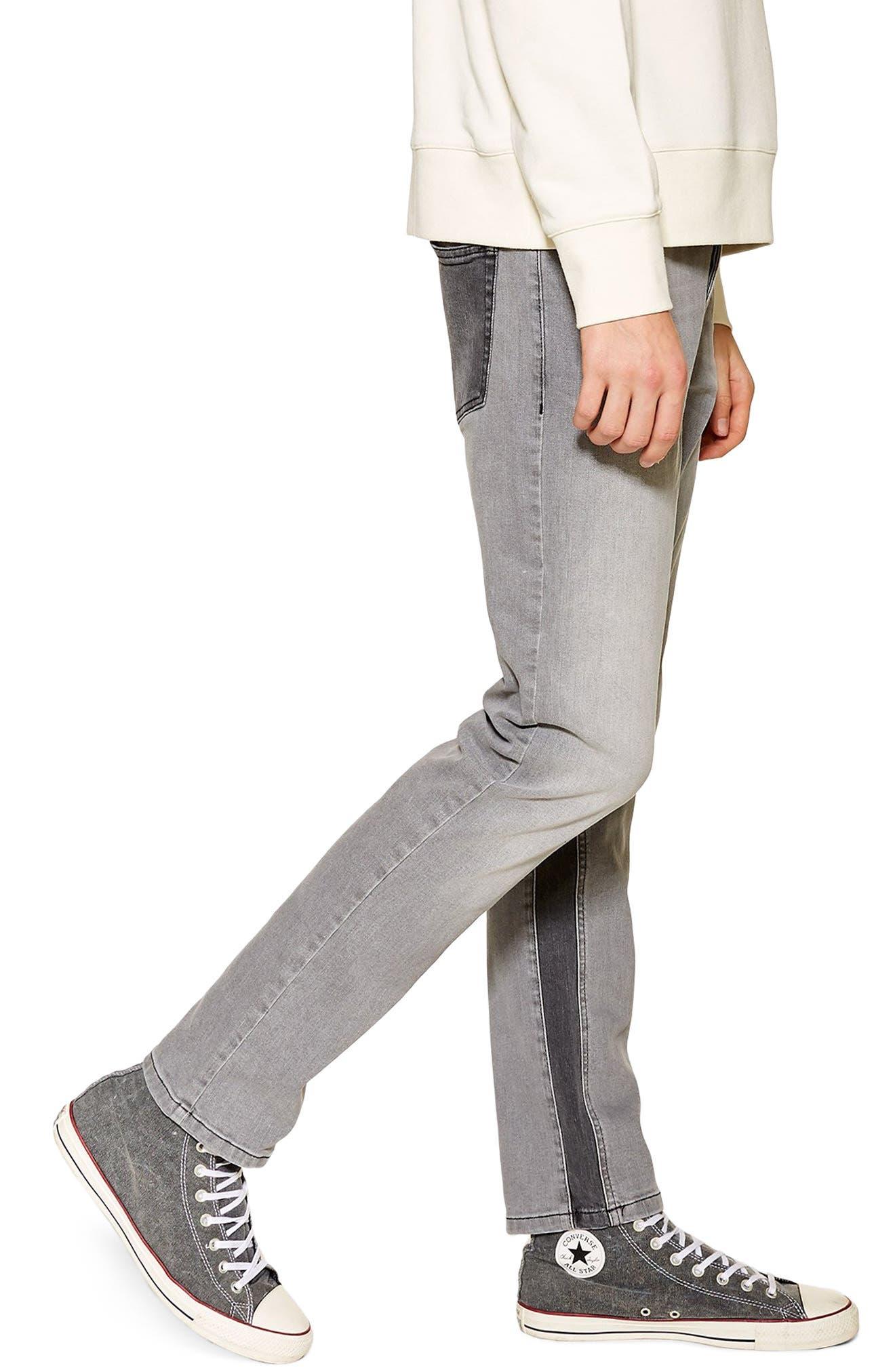 ,                             Slim Fit Panel Jeans,                             Alternate thumbnail 4, color,                             020