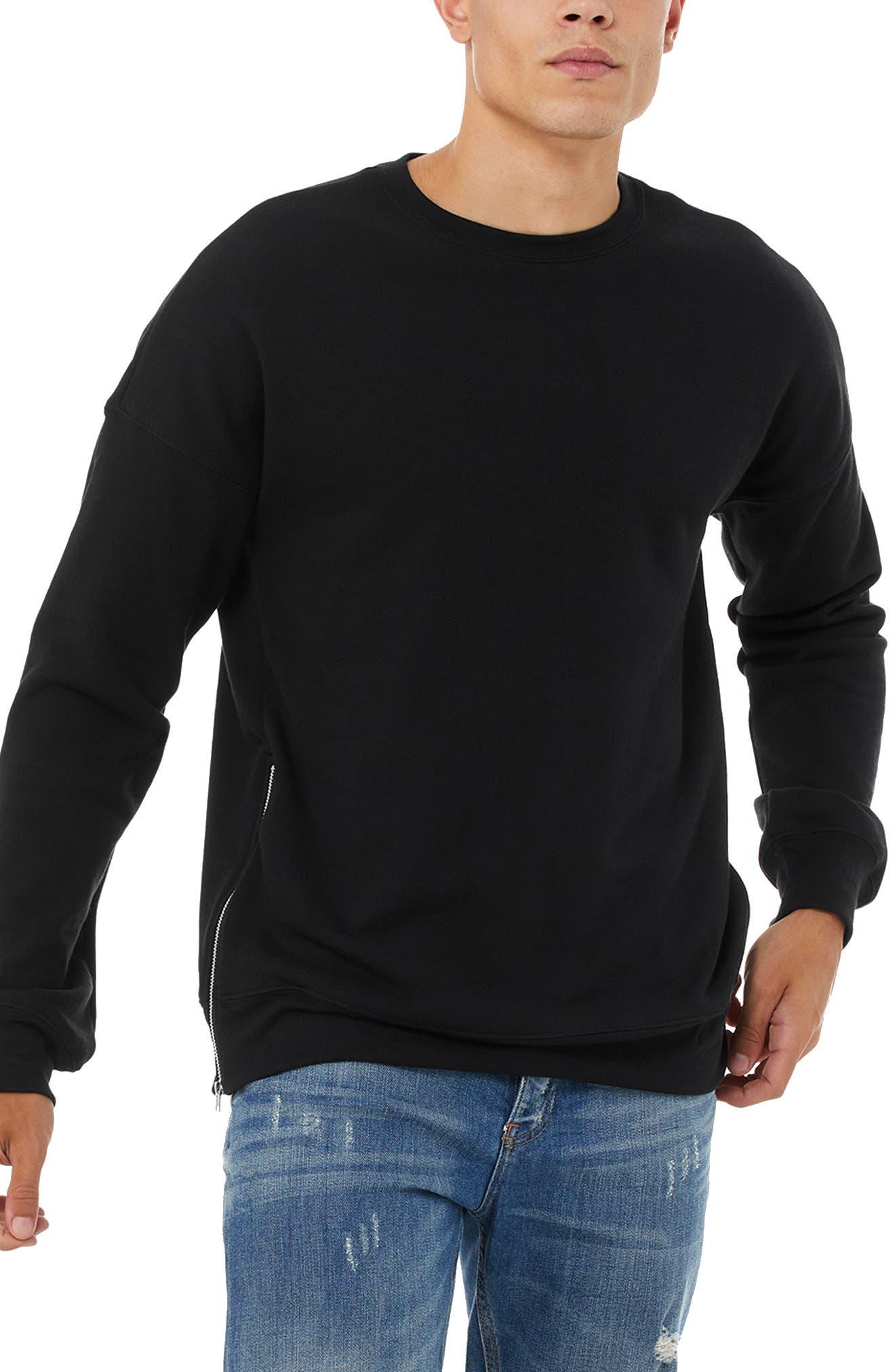 Men's Bella+Canvas Side Zip Sweatshirt