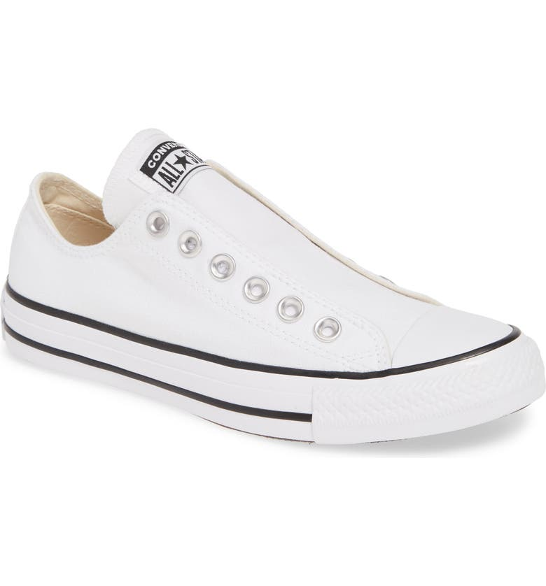 CONVERSE Chuck Taylor<sup>®</sup> All Star<sup>®</sup> Laceless Low Top Sneaker, Main, color, 102