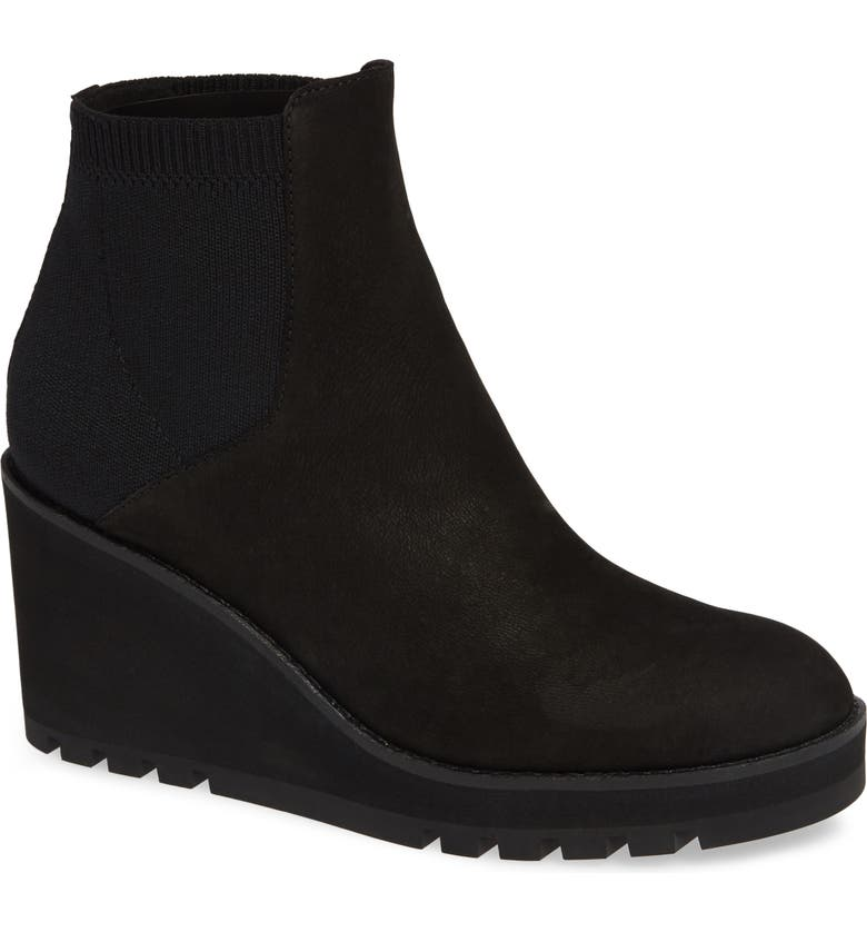 EILEEN FISHER Adele Wedge Bootie, Main, color, 001