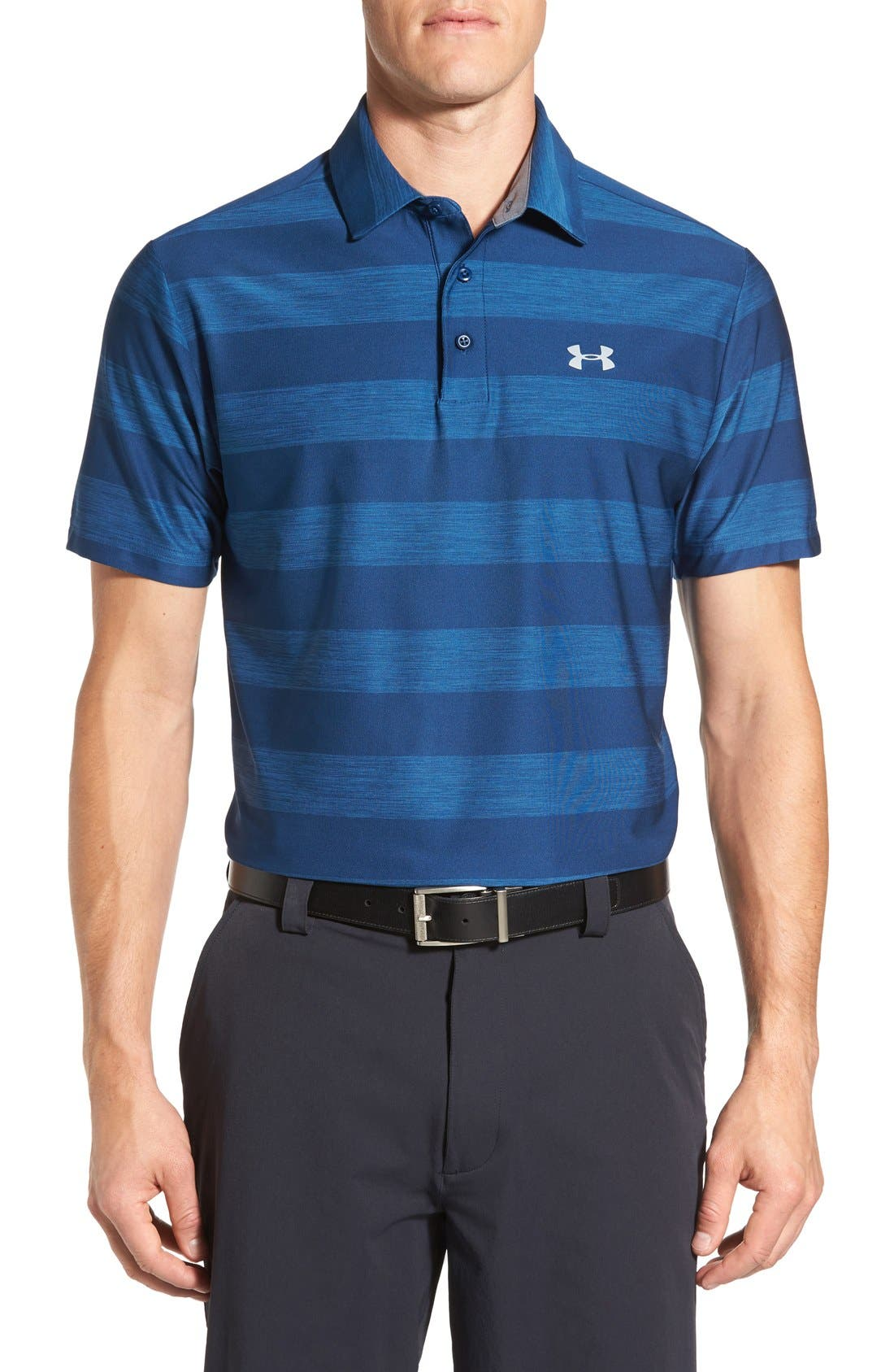 ,                             'Playoff' Loose Fit Short Sleeve Polo,                             Main thumbnail 340, color,                             499