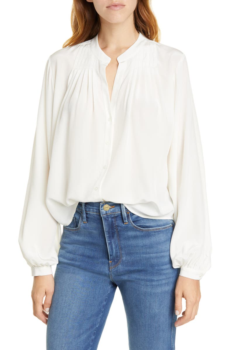 Pleated Silk Blouse by Frame