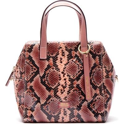 Frances Valentine Sabrina Snake Embossed Leather Satchel - Pink