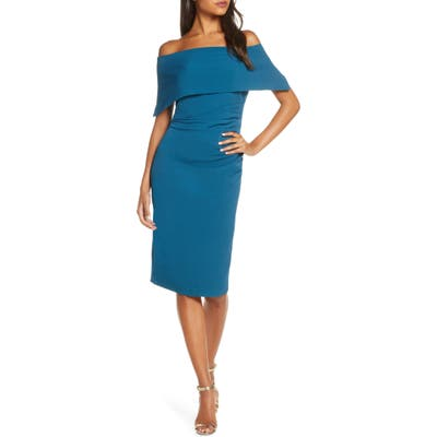 Vince Camuto Popover Dress, 8 (similar to 1) - Blue/green