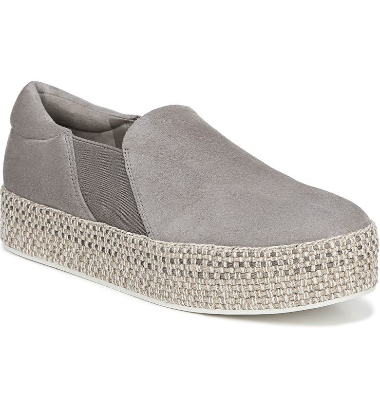 VINCE Wilden Flatform Espadrille, Main, color, WOOD SMOKE SUEDE