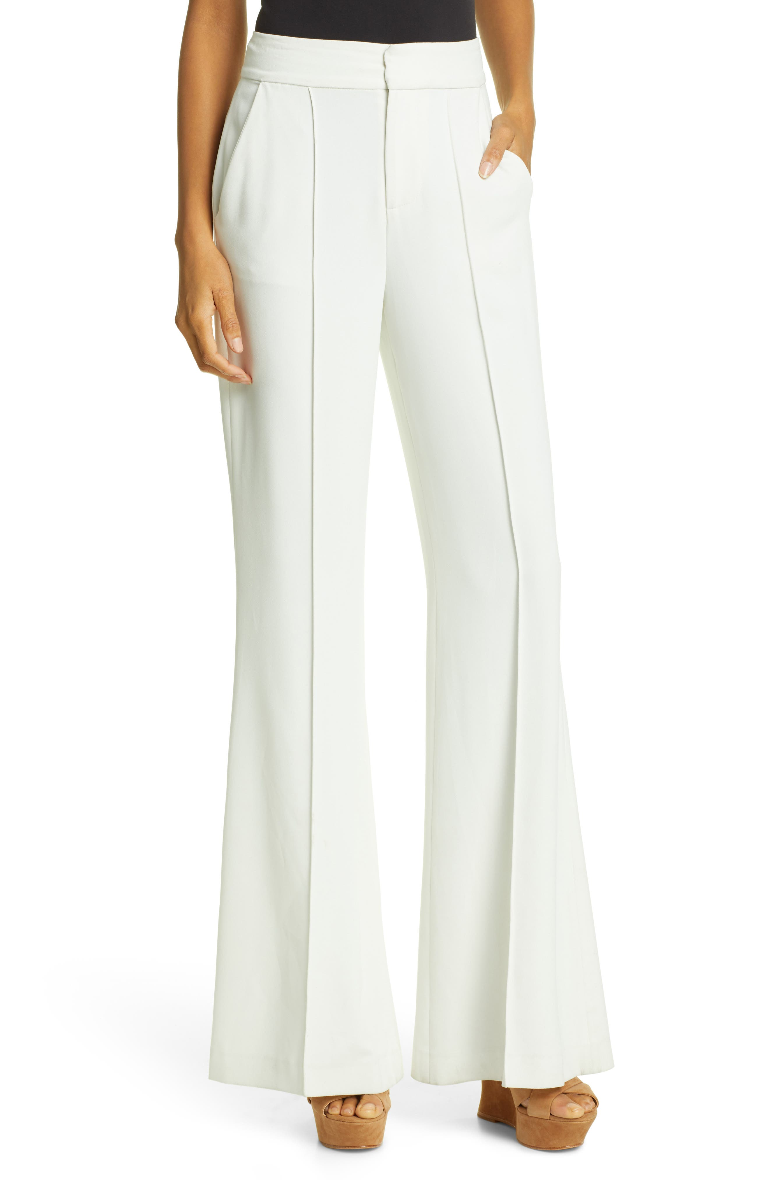 Dylan Bootcut Pants, Main, color, WHITE
