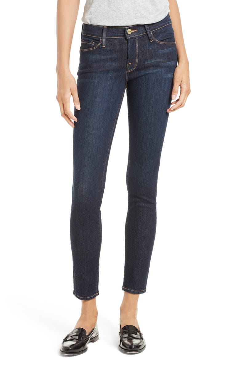 FRAME Le Skinny de Jeanne Ankle Jeans, Main, color, QUEENSWAY